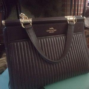 Coach Handbag: Oxblood Quilted Grace Bag